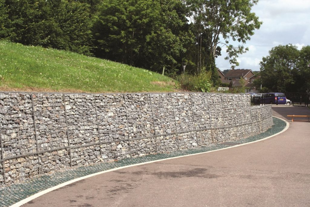 retaining wall gabion wall. Black Bedroom Furniture Sets. Home Design Ideas