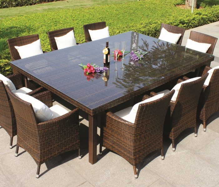 Oxford 10 Seater Wicker Rattan Dining Set Outdoor Dining Tables New Age Outdoor Furniture New Age Outdoor Furniture -